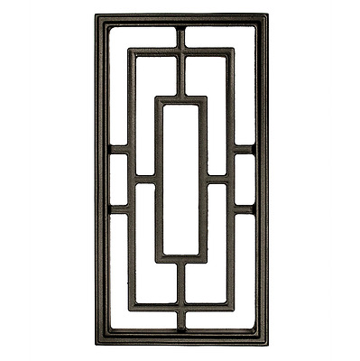 "Nuvo Iron RECTANGLE ALUMINUM DOOR INSERT 17"" X 9"" ACW57 fencing,fence gates,home"