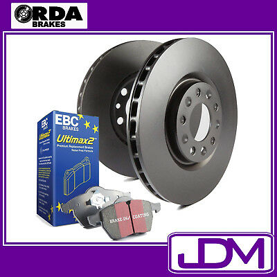 RDA Front Disc Rotors & EBC ULTIMAX PADS to fit NISSAN PATROL GU, Y61 4.8 Litre