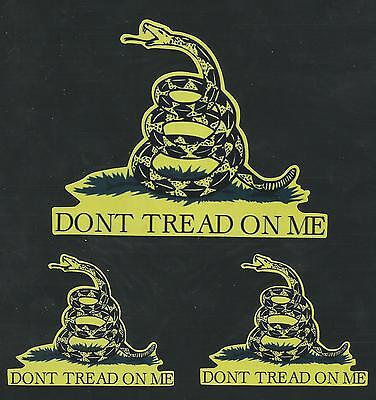 Set Of 3 Don't Tread Tactical Morale Military Car Vehicle Window Decal Sticker