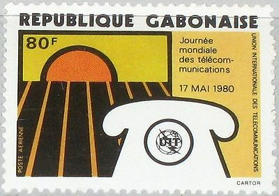GABON GABUN 1980 729 C232 12th World Telecommunications Day ITU Telephone MNH