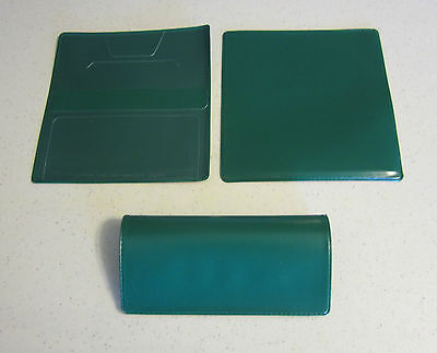 1 New Hunter Green Vinyl Checkbook Cover With Duplicate Flap Check Book Covers
