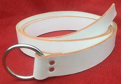 SCA Knight or Squire Ring Belt -Red or White- Options for Metals & Tips Medieval