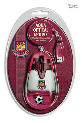 Official West Ham United 'aqua' Usb Mouse With Floating Ball/ New Srp £10