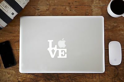 "Love Vinyl Decal Sticker for Apple MacBook Air/Pro Laptop 11"" 12"" 13"" 15"""