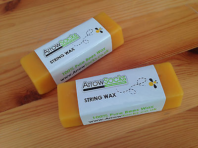 ArrowSocks - 1 Bar Of Bow String Wax - 100% Pure Solid Bees Wax