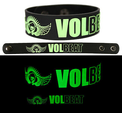VOLBEAT Rubber Bracelet Wristband Glows in the Dark