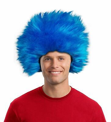 ADULT SIZE Dr. Seuss Suess THING 1 THING 2 Wig Straight Blue, SAME Day SHIPPING