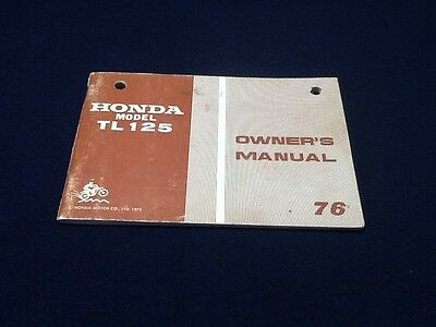 1976 Honda TL 126 Motorcycle Owner's Manual