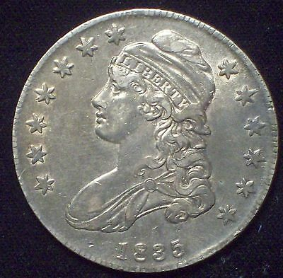 1835 Half Dollar *SILVER* O-105 *RARE* Strong AU Detailing Nice Tone Some Luster