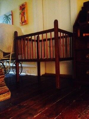 Southern Antique Heart Pine Baby Bed 1850's