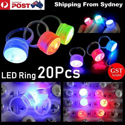 20x LED Flashing Ring shiny Fashion Party Light up Glow in the dark shine blink