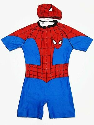 Spider-man Spiderman Body Swimsuit Swimwear Size S-XL age 2-9