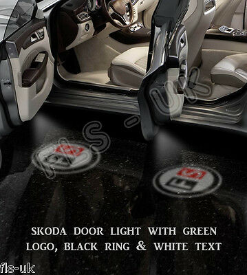 Cree Led Car Logo Ghost Shadow Door Light Lamp 2 Bulb Set - Gsl089