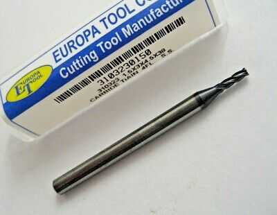 1.5mm SOLID CARBIDE 4 FLUTED TiALN COATED END MILL EUROPA TOOL 3103230150  #7