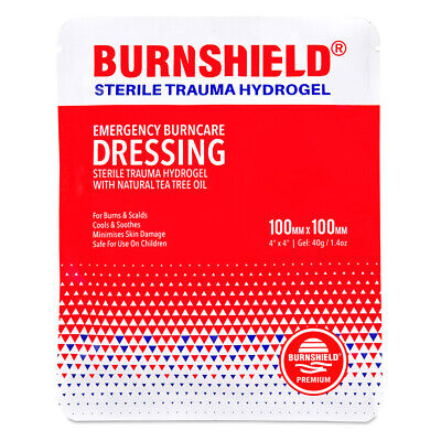 "BURNSHIELD 4""X4"" (10CM X 10CM) Burn Dressing Burn Aid IFAK EMT EMS First Aid"