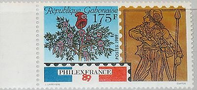 GABON GABUN 1989 1041 663 PHILEXFRANCE 89 Symbols French Revolution Tree MNH