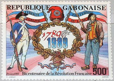 GABON GABUN 1989 1042 664 Bicent. French Revolution Emblem Revolutionäre MNH