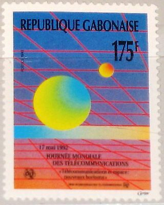 GABON GABUN 1992 1115 739 World Telecommunications Day Weltfernmeldetag MNH