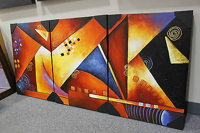Original Canada Artwork Wall Decor Modern Abstract Cubism Oil Painting EXPRESSO