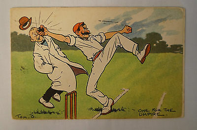 Vintage - Comic - Cricket - Postcard - One for The Umpire.