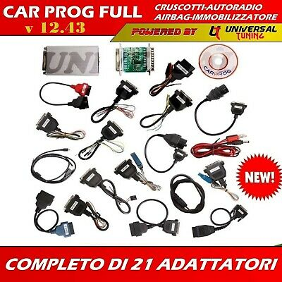Carprog V10.93 Full Ripristino Airbag Cruscotti Autoradio Modifica Km Scodifiche