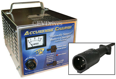 DPI Golf Cart Charger 48V with Club Car Round Connector - Accusense Intelligent