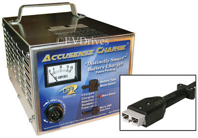 Golf Cart Battery Charger w/ SB-50, 36 Volts / 18 Amps - Accusense Intelligent