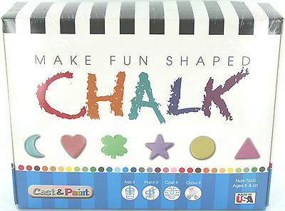 Make Chalk - Make Fun Shaped Chalk  Create From Scratch Made In Usa Cast N Paint
