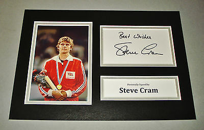 Steve Cram Signed A4 Photo Display Olympics Autograph Memorabilia + COA