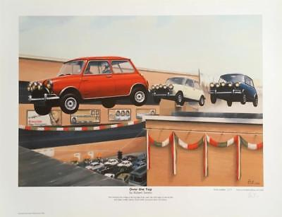 Mini Italian Job Over the Top by Robert Tomlin LTD EDITION