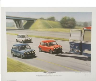 Mini Italian Job Getting Away With It by Robert Tomlin LTD EDITION