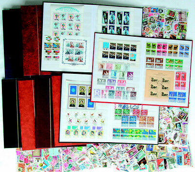 10 Stamp Album with 3000 different Stamps of the world