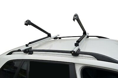 Alloy Fishing Rods Carrier Holder Roof Rack Lockable Adjustable Universal