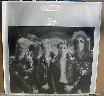Queen 1980 usa giant advertising poster THE GAME rare w/ silver ink