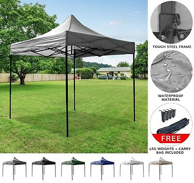 Airwave Essential 3x3m Pop Up Gazebo with No Sides - Waterproof Garden Marquee