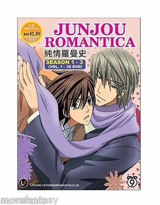 DVD Junjou Junjo Romantica Season 1+2 Vol1-24 End+Bonus Anime DVD +free Tracking