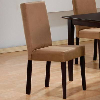 Mocha Finish Microfiber Parson Dining Side Chair by Coaster 100492 - Set of 2