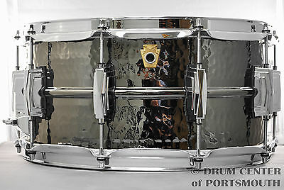 Ludwig Black Beauty Hammered Snare Drum 6.5x14 - LB417K
