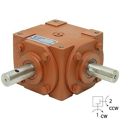 1:1 Right Angle Gearbox 32 Hp Keyed & Crosshole Shaft   13-1423