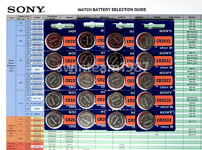 1000 Sony CR2032 cr 2032 Lithium Coin Battery Expire 2028 US Seller