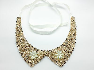 Peter Faux Flower Choker Collar Removable Detachable Wrap Necklace - Style 7