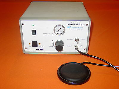 EMS Microvasive Swiss Lithoclast with Pedal and Original Instruction Manual