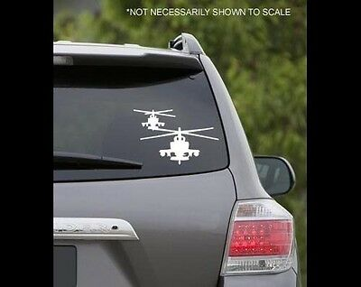 Military Apache Helicopter Support Decal Window Air Force Aeronautical HE7