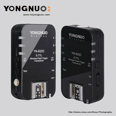 Yongnuo YN-622C Wireless TTL Flash Trigger for Canon 7D 5DII 5DIII 1DIII 5D 1DIV