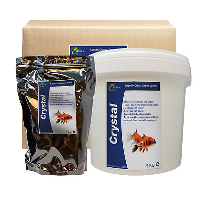HYDRA CRYSTAL- Koi Fish Green Pond Water Remover - Crystal Clear Pond Treatment