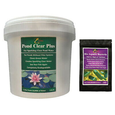 HYDRA POND CLEAR PLUS 5 KG Green Water Remover Treatment for Koi Fish Pond Care