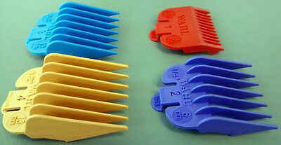 WAHL Colour Clipper Guard Attachment Combs Size 1-4