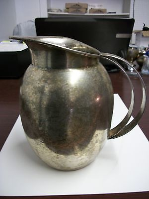 National Silver Company Silver-Plated Pitcher on Copper Made in Argentnia