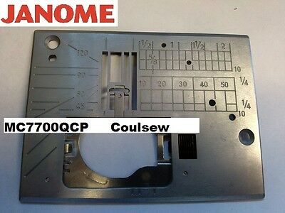 JANOME GENUINE  NEEDLE PLATE Fits Only 7700 MC7700QCP Part No. 858603002