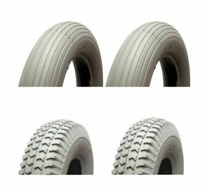 Mobility Scooter Puncture Proof Tyres 300-4 -260x85 Full set solid scooter tyres